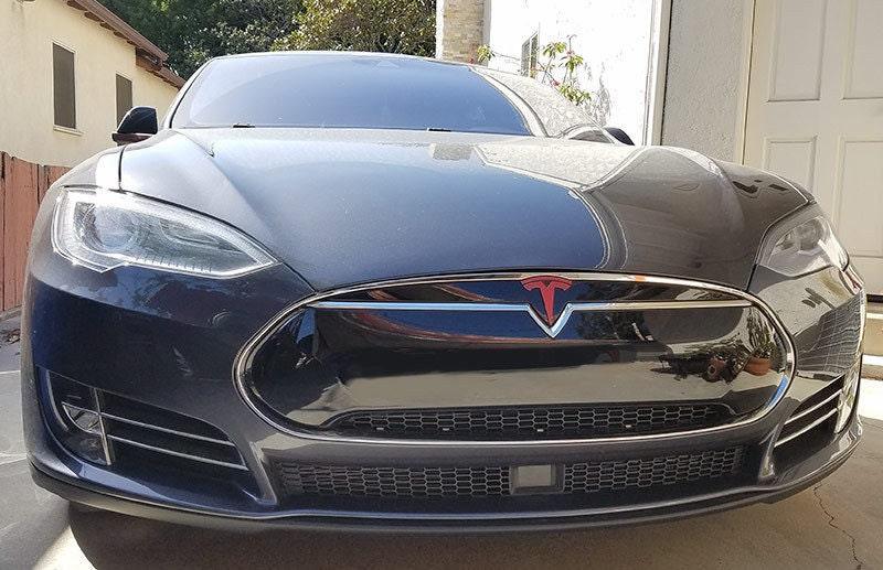 Tesla Model S Nose Cone Front Emblem T Vinyl Decal