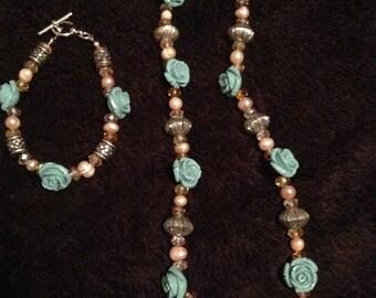 Turquoise rose set