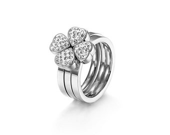 Alyssa Clover Stacked Ring