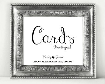 Cards Personalized Wedding Sign Printable In A Stylish  Font CWS111_22
