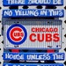 "SignTIKI - Chicago Cubs - MLB Baseball Sign - ""No Yelling in this House..."""
