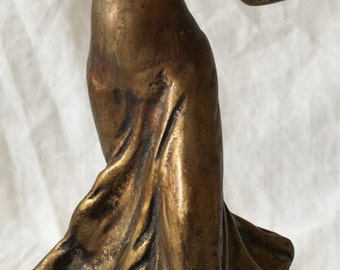 Dancing lady statues from bronze – Antique collectible piece
