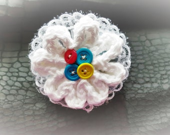 Crochet White flower