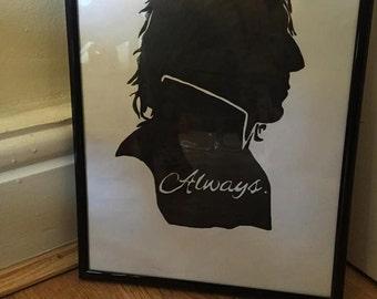 Harry Potter hand drawn art - framed