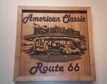 American Classic Diner Sign Custom Made