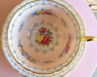 Pretty in Pink Shelley Crochet Teacup and Saucer