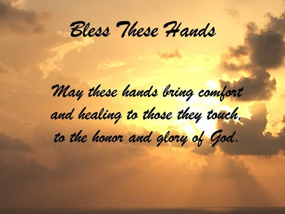 Blessing These Hands Digital Print Downloadable Nurse's