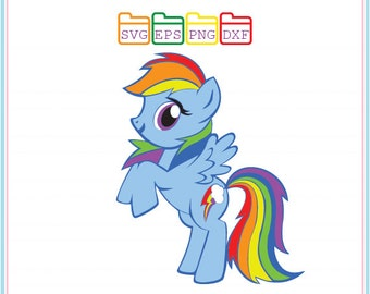 My Little Pony Rainbow Dash, Svg Dxf Png Eps, Cutting File,Studio Cut Files,Silhouette Studio,Cutting Machines,Cricut Cameo,Instant Download