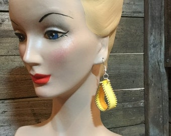 Yellow Zipper Earrings