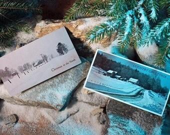 Christmas Cards, Adirondack Photography, Vintage Cards, 12 Cards,  6 of Each Style, Landscape Photography