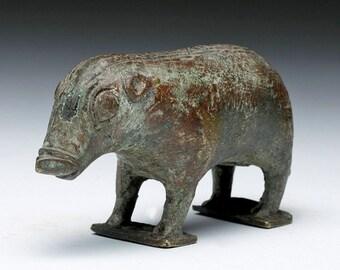 Antique India (Northern Kerala) Bhuta Cult Bronze Boar