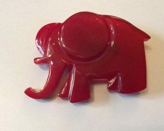PIN ELEPHANT red-Isadora Paris