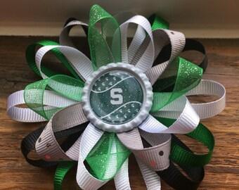 Michigan state university hair bow