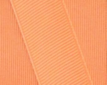 Apricot Orange Grosgrain Ribbon    (05-##-S-266)