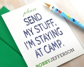 Personalized Stationery Set, Summer Camp Stationary, Funny Kids Stationary, Happy Camper Sweet Camper, Jewish Gifts, Set of 10
