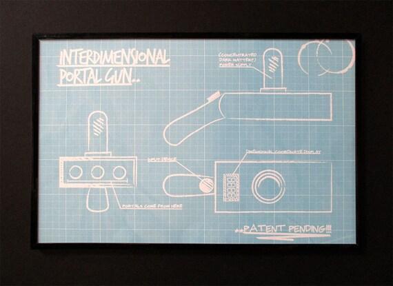 Blueprint of Rick Sanchez's Inter-dimensional by PosterSlinger  Blueprint of Ri...