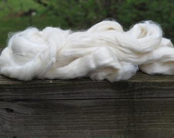 Undyed Merino/Bamboo/Silk Roving, Bare Roving, dyeable roving, dyeable fiber, undyed fiber