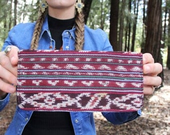 Tribal fabric wallet, checkbook cover, cotton wallet,  gift for her, washable wallet, ladies wallet, aztec wallet, eco friendly wallet