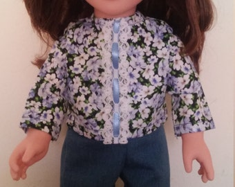"""Casual outfit for American Girl and other 18"""" dolls."""