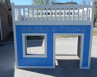 Twin size playhouse loft bed