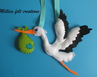 Stork wall hanging, bird