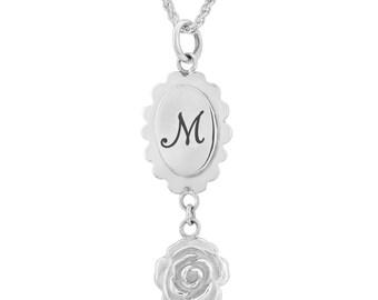 Personalised Vintage Rose Necklace