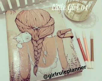Planner a5 size 6ring with girl