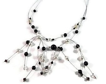ras handcrafted collar black and white