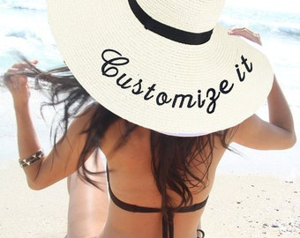 Customize It Embroidered Floppy Hat Make Your Own Statement FREE SHIPPING