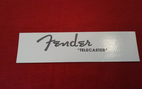 Fender Gray Telecaster Custom Waterslide Decal - Available in the light gray as well