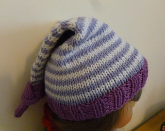 STRIPED BABY HAT, handknit, soft, choice of sizes, cute, comfy, gift, baby, Scotland, baby hat, newborn