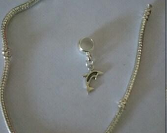Dolphin charm bead