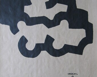 Eduardo Chillida - Original Plate signed Lithograph, 1980