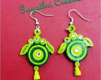 Paper quilling jewellery