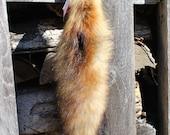 Red Fox Tail Keychain #12