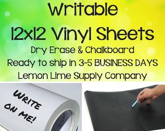 Dry Erase Vinyl/Chalkboard Vinyl/Writable Vinyl/Specialty Vinyl/Permanent Vinyl/White Dry Erase Vinyl Sheet/Chalkboard Permanent Vinyl