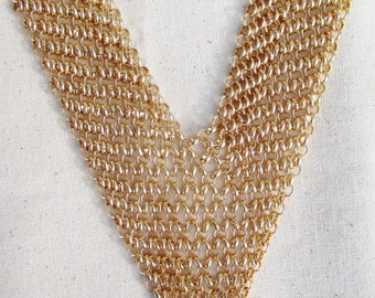 gold chain metal necklace