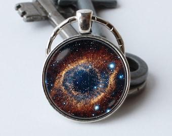Keychain Nebula Helix Space key ring Nebula jewelry Nebula pendant Nebula gift Astronomy Nebula keyring Nebula key chain Cosmos keychain