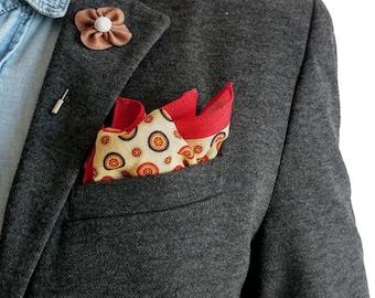 Hypnosis - Circle patterns Pocket Square  | Gentleman accessories | dapper | blazer pocket square | handkerchief | Gift men