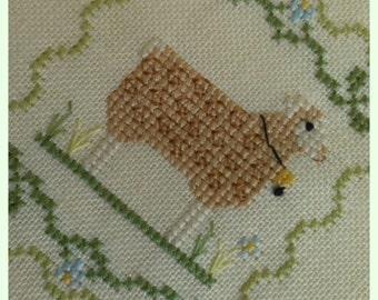 My little sheep cross stitch pattern