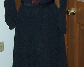 Black Victorian Two Piece Dress - Larger Size
