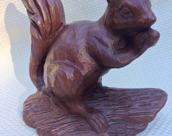 Vintage Resin Squirrel, Made by Red Mill Company