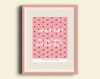 Affiche - The Grand Budapest Hotel - Citation