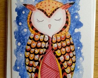 Owl 2 greeting card