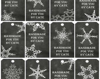 Chalkboard Small One Side Gift Tags - PDF FILE ONLY