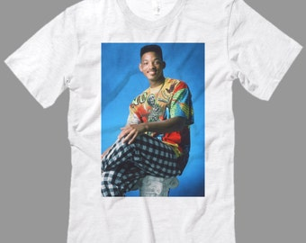 90's The Fresh Prince T Shirt, Will Smith T Shirt, Premium Quality fabric, All Sizes from kid Sml - Adult 5XL