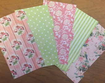 REDUCED Pink & Lime Floral Dividers