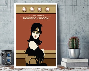 Moonrise Kingdom, Suzy, Wes Anderson, Minimal Movie Poster.