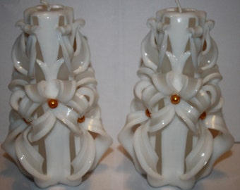 Carved Candles Wedding Candles