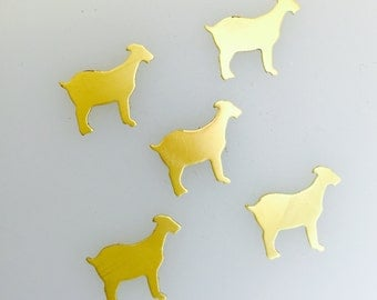 Raw Brass Small Goat Blanks- Animal Shapes-Farm Animals-Jewelry Making-metal Blanks-Components-Supplies-Hand Stamped